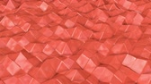 fosses : coral wave surface is slowly deformed. animation. 3d rendering