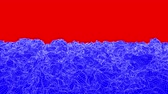 abstrakce : blue wave plane moves on a red background. animation. 3d rendering Dostupné videozáznamy