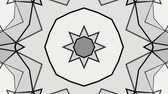 rohy : Black white kaleidoscope background of polygonal mesh. 3d rendering