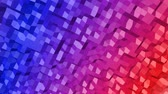 animated looped low poly colorful. 3d render Filmati Stock