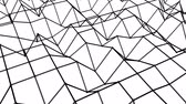 fundo preto : animated looped background of polygonal mesh. 3d render Stock Footage
