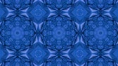 soyut : Abstract looped blue background. 3d render Stok Video