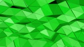 narożniki : green animated low poly. 3d rendering Wideo