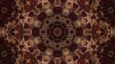 フィルター : brown kaleidoscope background. abstract. 3d render