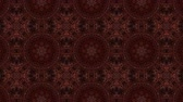 trzy : brown kaleidoscope background. abstract. 3d render