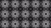 monocromo : Black white kaleidoscope background. abstract. 3d render Archivo de Video