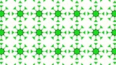 caleidoscopio : Green three-dimensional kaleidoscope background. abstract. 3d render Archivo de Video