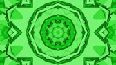 экран : Green three-dimensional kaleidoscope background. abstract. 3d render Стоковые видеозаписи