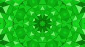 калейдоскоп : Green three-dimensional kaleidoscope background. abstract. 3d render Стоковые видеозаписи