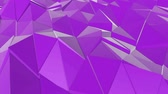 de canto : purple low poly surface is slowly deformed. background. 3d rendering Stock Footage