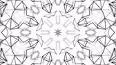 abstrakce : black and white animated pattern. Abstract moving kaleidoscope. 3d rendering Dostupné videozáznamy