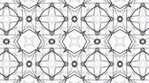 noktalar : black and white animated pattern. Abstract moving kaleidoscope. 3d rendering Stok Video