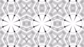 monokróm : black and white animated pattern. Abstract moving kaleidoscope. 3d rendering Stock mozgókép