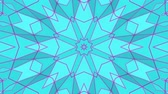 tridimensional : turquoise purple kaleidoscope pattern. abstract looped. 3d rendering