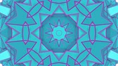 калейдоскоп : turquoise purple kaleidoscope pattern. abstract looped. 3d rendering