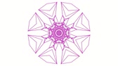 caleidoscoop : purple kaleidoscope pattern on white background. abstract looped. 3d rendering