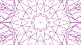 caleidoscopio : purple kaleidoscope pattern on white background. abstract looped. 3d rendering