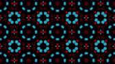 ekran : Multicolored kaleidoscope background. looped. 3d rendering