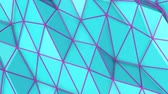 narożniki : turquoise low poly surface covered with is slowly deformed. abstract looped animation. 3d rendering Wideo