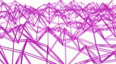 wiederholung : purple three-dimensional grid is slowly deformed on a white background. looped animation. 3d rendering Stock Footage