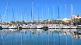 âncora : FRANCE, CANNES - JANUARY 10, 2019: View of the Marina of Cannes, French Riviera, France