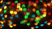 cuore sagoma : Heart shape multi colour blur bokeh abstract background. 005. 4K.mp4