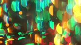 cuore sagoma : Multi colour blur bokeh crystal light abstract background. 006. 4K.mp4
