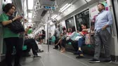 シンガポール : Inside of singapore MRT train