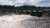 shortage of water : Large Wide Dam With Which Goes Stormy Water Draining