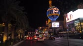 las vegas strip : Las Vegas, USA-November 07,2017: Traffic On Boulevard Strip Casino At Night Stock Footage