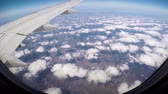 shaky : View From Window Of Airplane On Wing Of Aircraft Flight, Suns Rays And Clouds
