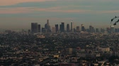 caído : Evening View Of Downtown Los Angeles Stock Footage