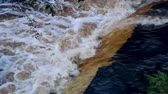 underground water : Strong Stream Of Brown Dirty Rainwater Stock Footage