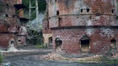 weathered : View Of The Abandoned And Collapsing Kilns Of The Marble Lime Plant