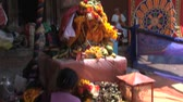 offers : Woman offers in Hindu temple in Kathmandu,Nepal