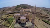 interessante : Aerial view Gozo, Malta, Ta Pinu famous basilica. wonderful journey through Malta
