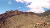 excursão : Beautiful mountain landscape against a blue sky with a birds eye view. Aero view.