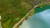 norway fishing : Aerial view of the landscape of Norway.