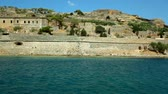 Moving Camera around Spinalonga fortress, Crete Stock Footage