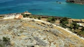 Island of Spinalonga in Crete Greece landmark