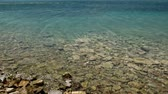 Calm on the sea near the island of Spinalonga Stock Footage
