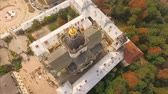 yura : Flying over Cathedral of St. Jura Lviv Ukraine. Stock Footage