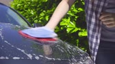 myjnia samochodowa : Washing a Car by Hand - camera pan, camera zoom - ProRes