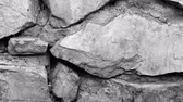exterior shots : Footage retro stone wall background texture.