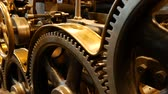 rolled : Old printing press - rotary press Stock Footage