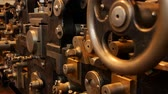 rolos : Old printing press - Offset printing principle Stock Footage