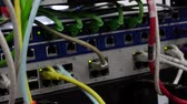cortafuegos : Rack Con Cables Y Enchufes, Lan Rack Archivo de Video