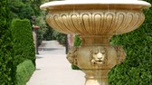waterworks : Old stone fountain with dripping water.