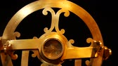 An ancient naval astrolabe. Measure latitude and longitude. Wideo