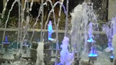 shimmers : Colored fountains in the mall.